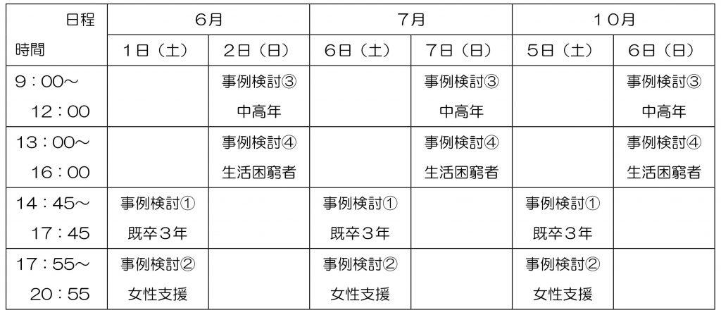 更新講習日程表